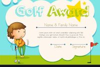Certificate Template For Golf Award Royalty Free Vector in Golf Certificate Template Free