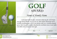 Certificate Template For Golf Award Stock Vector  Illustration Of intended for Golf Gift Certificate Template
