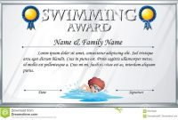 Certificate Template For Swimming Award Stock Vector  Illustration intended for Swimming Certificate Templates Free
