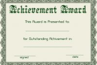 Certificate Template Free Download Powerpoint  Style  Free in Template For Certificate Of Award