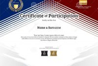 Certificate Template In Sport Theme With Border Frame Diploma D throughout Landscape Certificate Templates