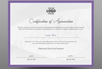 Certificate Template Instant Download Certificate Of Appreciation   Editable Ms Word Doc And Photoshop File throughout Walking Certificate Templates