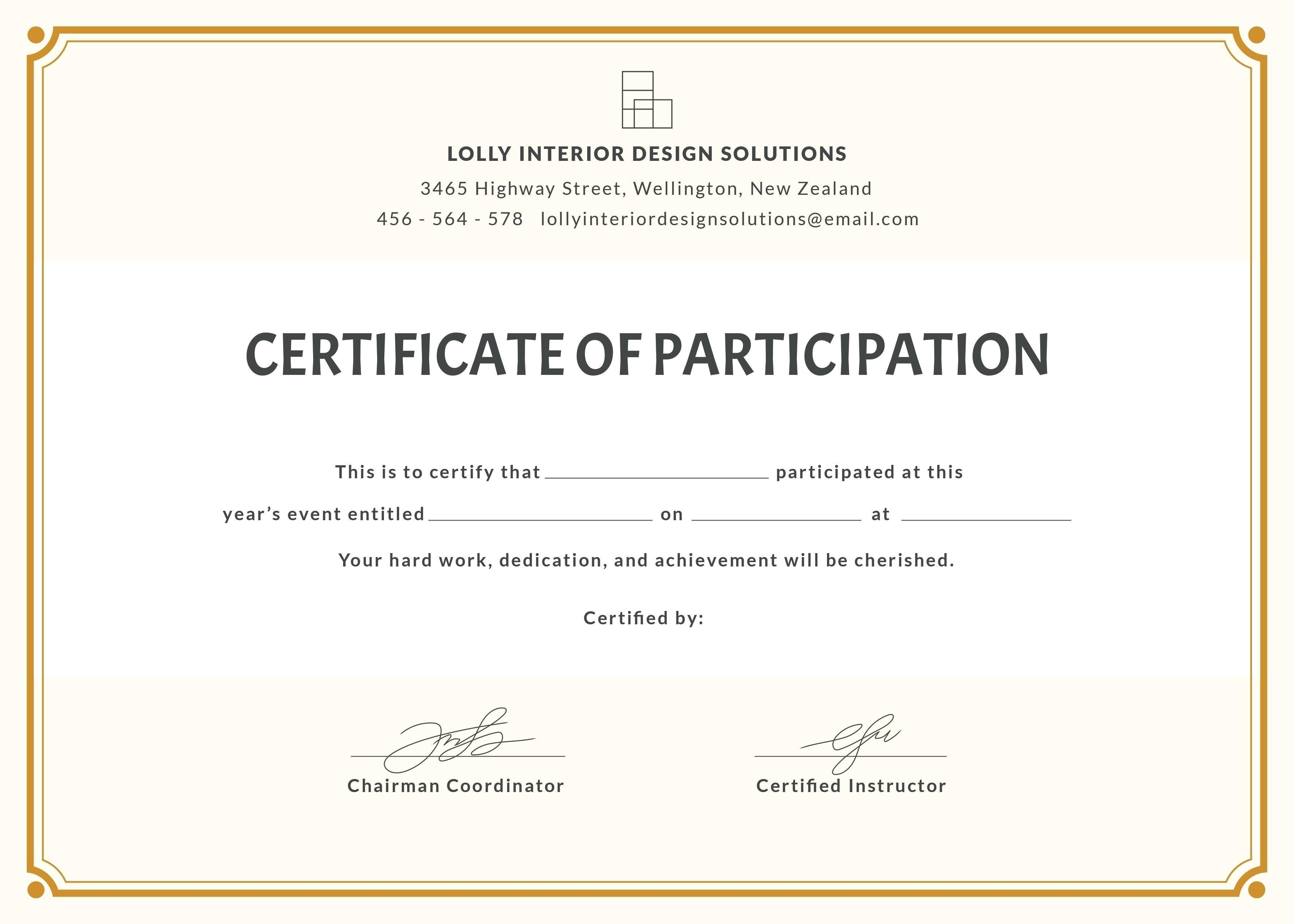 Certificate Template Office  – Elsik Blue Cetane For Office Certificate Template