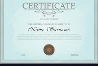 Certificate Template Royalty Free Vector Image pertaining to High Resolution Certificate Template
