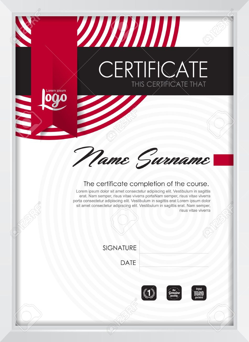 Certificate Template With Clean And Modern Pattern Qualification Throughout Qualification Certificate Template