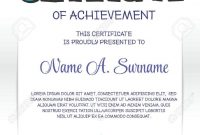 Certificate Template With Colorful Frame For Children Portrait throughout Children's Certificate Template