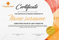 Certificate Template With Polygonal Style And Modern Pattern in Workshop Certificate Template