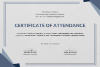 Certificate Templates  Attendance Certificate Templates Doc Pdf with regard to Conference Certificate Of Attendance Template