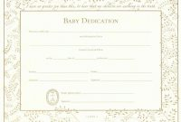 Certificate Templates Baby Dedication Certificate Template Business intended for Walking Certificate Templates