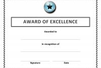 Certificate Templates  Best Images Of Microsoft Word Certificate within Blank Award Certificate Templates Word