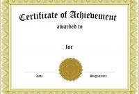 Certificate Templates For School  – Elsik Blue Cetane inside Certificate Templates For School