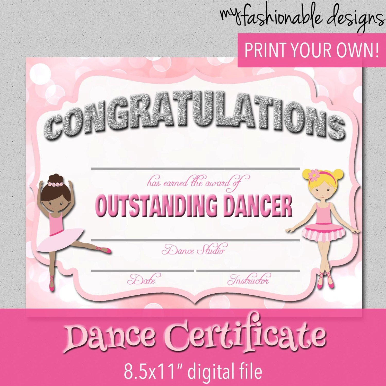 Certificate Templates Free Dance Certificate Template Customizable Within Dance Certificate Template