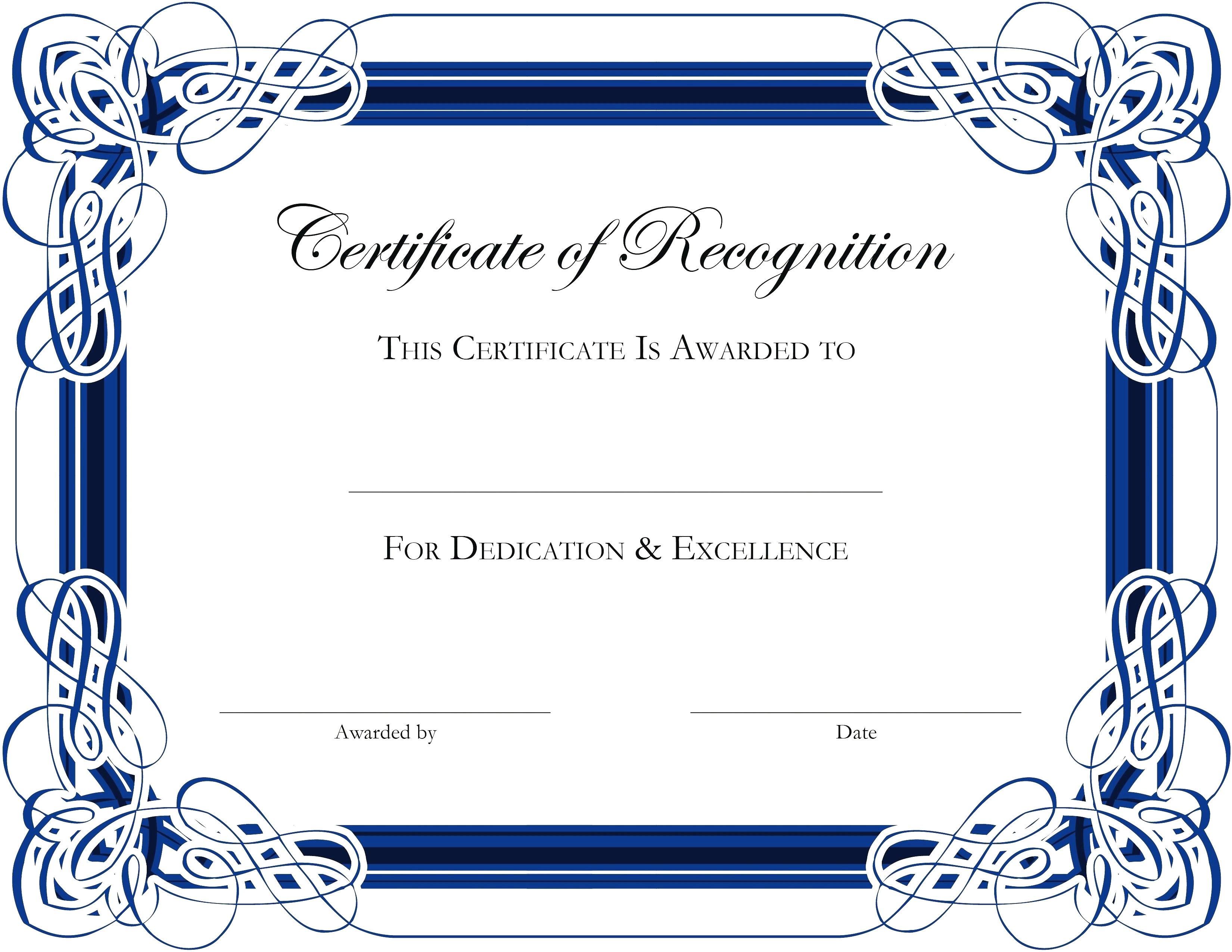 Certificate Templates In Word   Certificatetemplateword Pertaining To Award Certificate Templates Word 2007