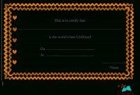 Certificate Templates Love Best Boyfriend Certificate Maker Love regarding Love Certificate Templates