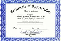 Certificates Of Appreciation Templates Filename  Fabulousfloridakeys with Certificates Of Appreciation Template