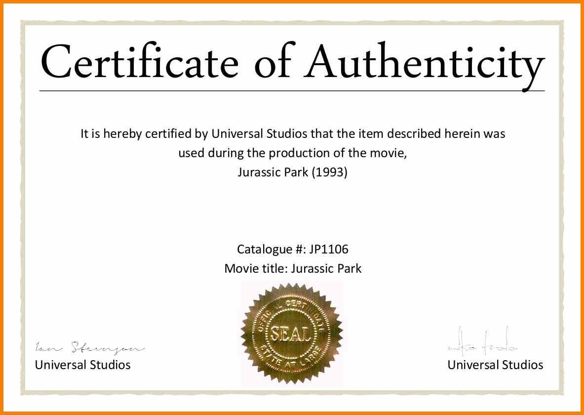 Certificates Of Authenticity Templates Filename  Fabulousfloridakeys With Regard To Certificate Of Authenticity Template