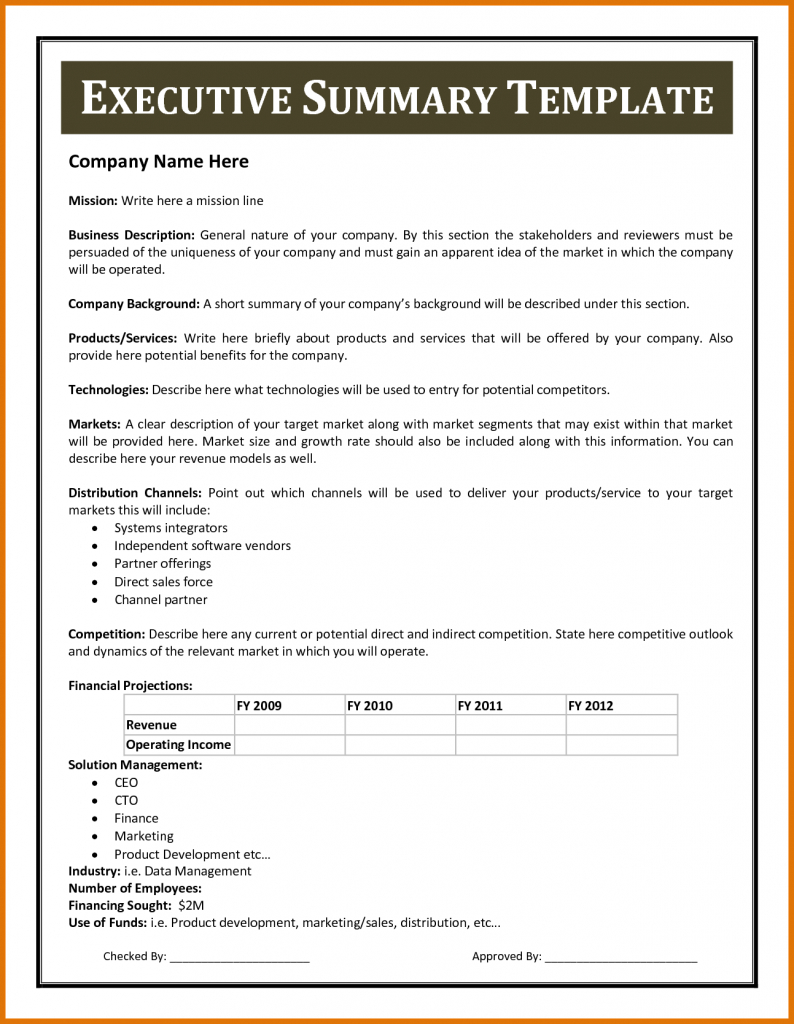Certificates Templates  Financial Summary Report Template Pertaining To Executive Summary Report Template