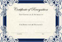 Certificatetemplatedesignsrecognitiondocs  Blankets inside Template For Certificate Of Appreciation In Microsoft Word