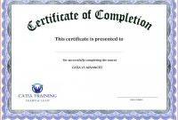 Certification Of Completion Template Staggering Ideas in Word 2013 Certificate Template