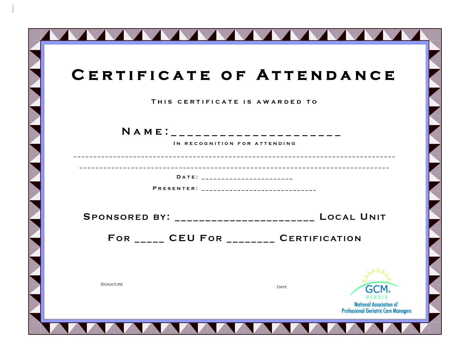 Ceu Certificate Of Completion Template Continuing Education Hours Pertaining To Continuing Education Certificate Template