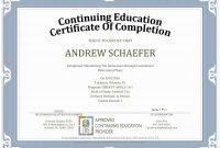 Ceu Certificate Of Completion Template Sample throughout Ceu Certificate Template