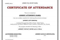 Ceu Certificate Template  Sansurabionetassociats Inside Conference Certificate Of Attendance Template