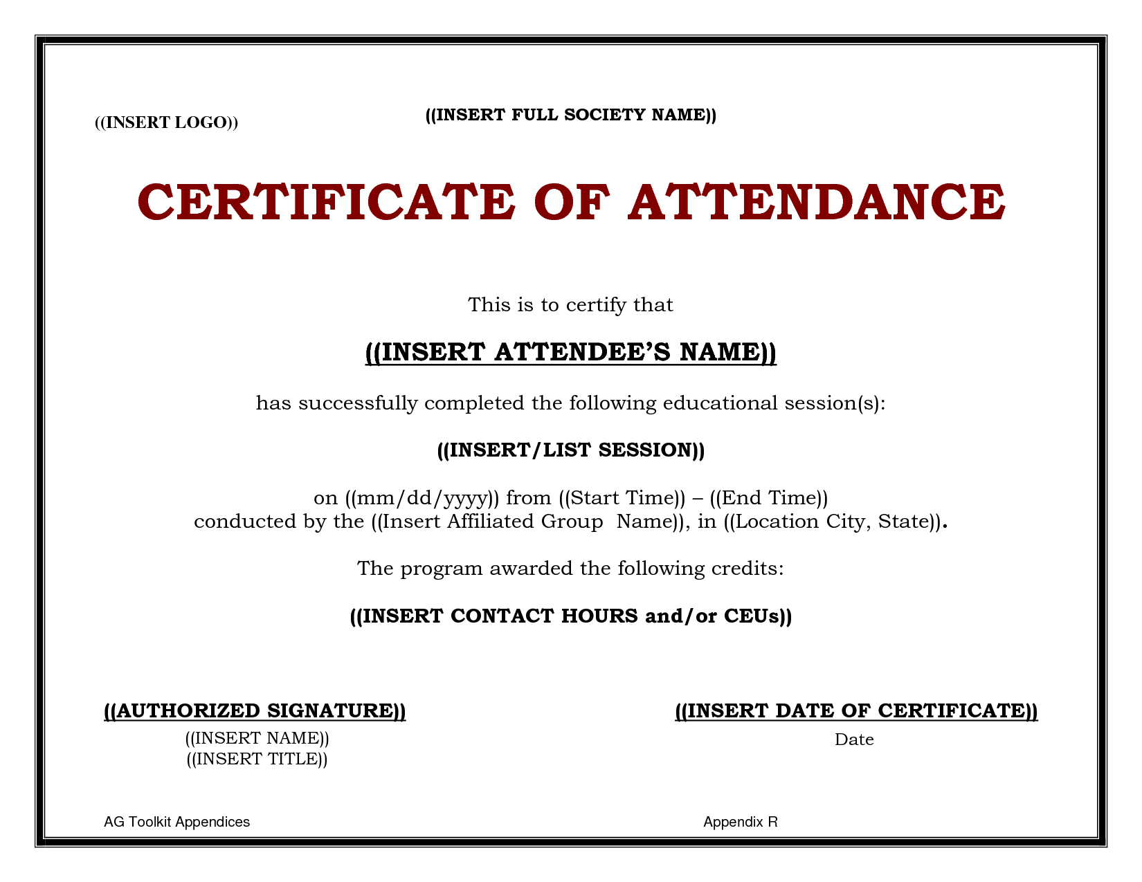 Ceu Certificate Template  Sansurabionetassociats With Regard To Certificate Of Attendance Conference Template