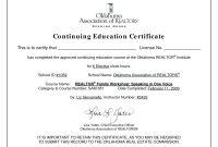 Ceu Certificates Template Beautiful Continuing Education Certificate for Ceu Certificate Template