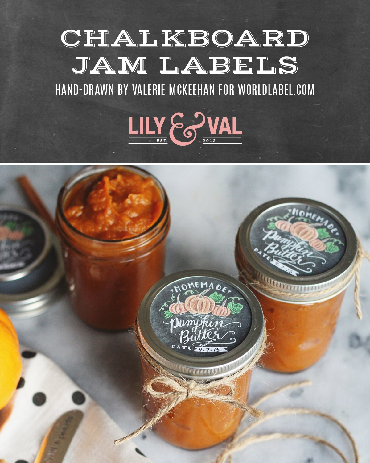 Chalk Art Jam Labels Handdrawnvalerie Mckeehan  Free Printable Regarding Chutney Label Templates
