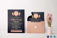 Chalkboard Anniversary Invitation Card Design Template In Word Psd intended for Anniversary Card Template Word