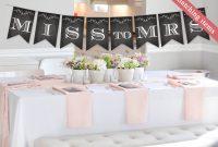 Chalkboard Bridal Shower Banner Template Printable Bridal Shower within Bridal Shower Banner Template