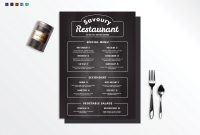 Chalkboard Restaurant Menu Design Template In Psd Word Publisher in Menu Templates For Publisher