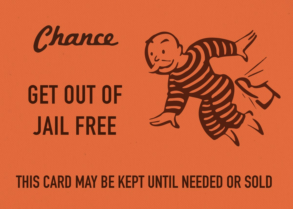 Chance Card Vintage Monopoly Gdesign Turnpike  Metal Posters Pertaining To Get Out Of Jail Free Card Template