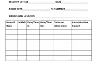 Chapter  Crime Scene Management – Introduction To Criminal in Crime Scene Report Template