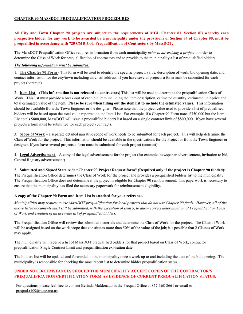 Chapter  Massdot Prequalification Procedures Inside Free Newspaper Advertising Contract Template