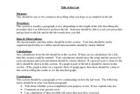 Chemistry Formal Lab Report Format  Challenge Iii  Lab Report within Lab Report Template Chemistry