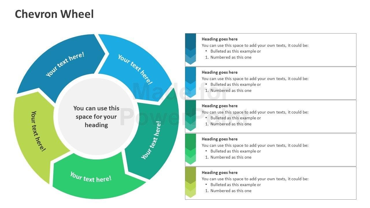 Chevron Wheel  Editable Powerpoint Shapes Throughout Powerpoint Chevron Template