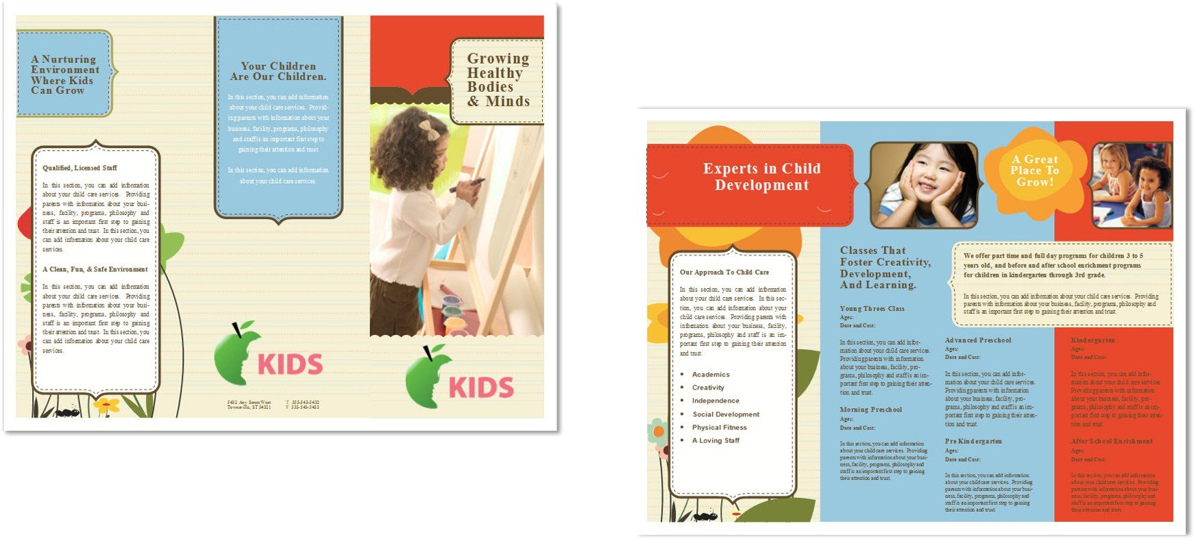 Child Care Brochure Template   Child Care Owner intended for Daycare Brochure Template