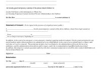 Child Custody Agreement Special Best S Of Temporary Guardianship throughout Joint Custody Agreement Template