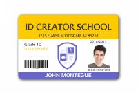 Child Id Card Template  Full Hd In   School Id Id Card pertaining to Id Card Template For Kids