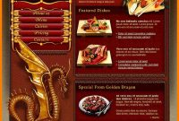 Chinese Restaurant Menu Template  Weekly Template intended for Asian Restaurant Menu Template