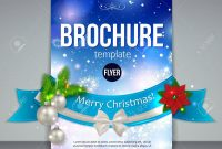 Christmas Brochure Template Abstract Flyer Design With Xmas within Christmas Brochure Templates Free