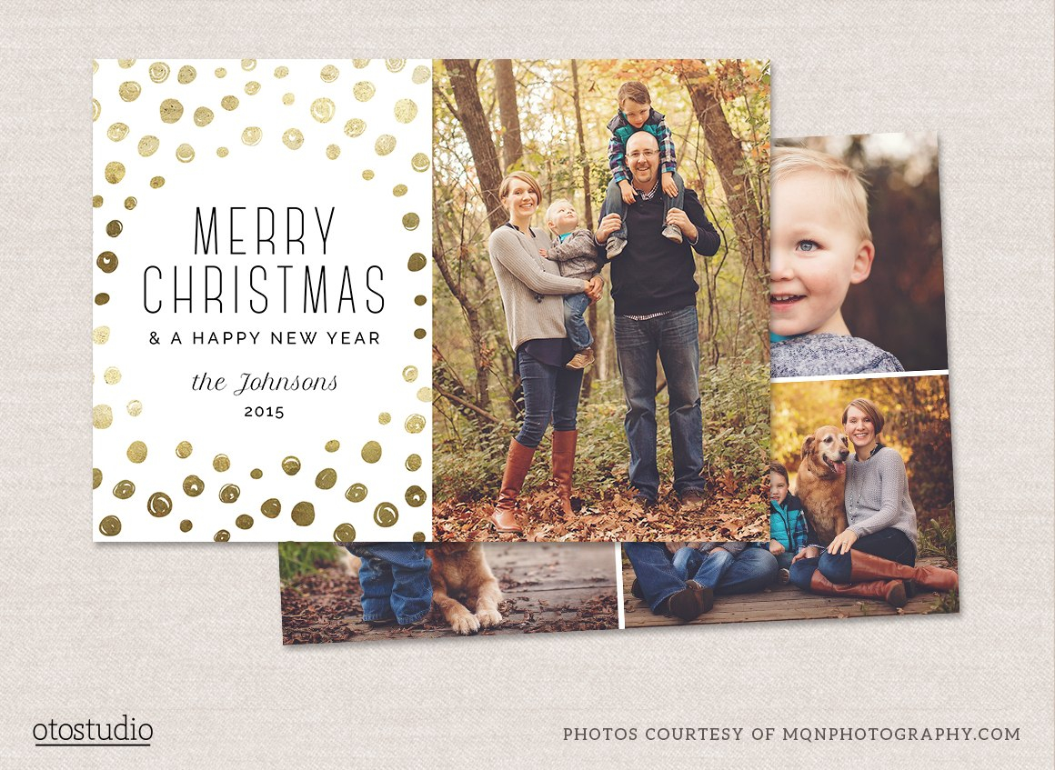 Christmas Card Photoshop Templates To Get You Up And Going Quickly For Free Christmas Card Templates For Photoshop