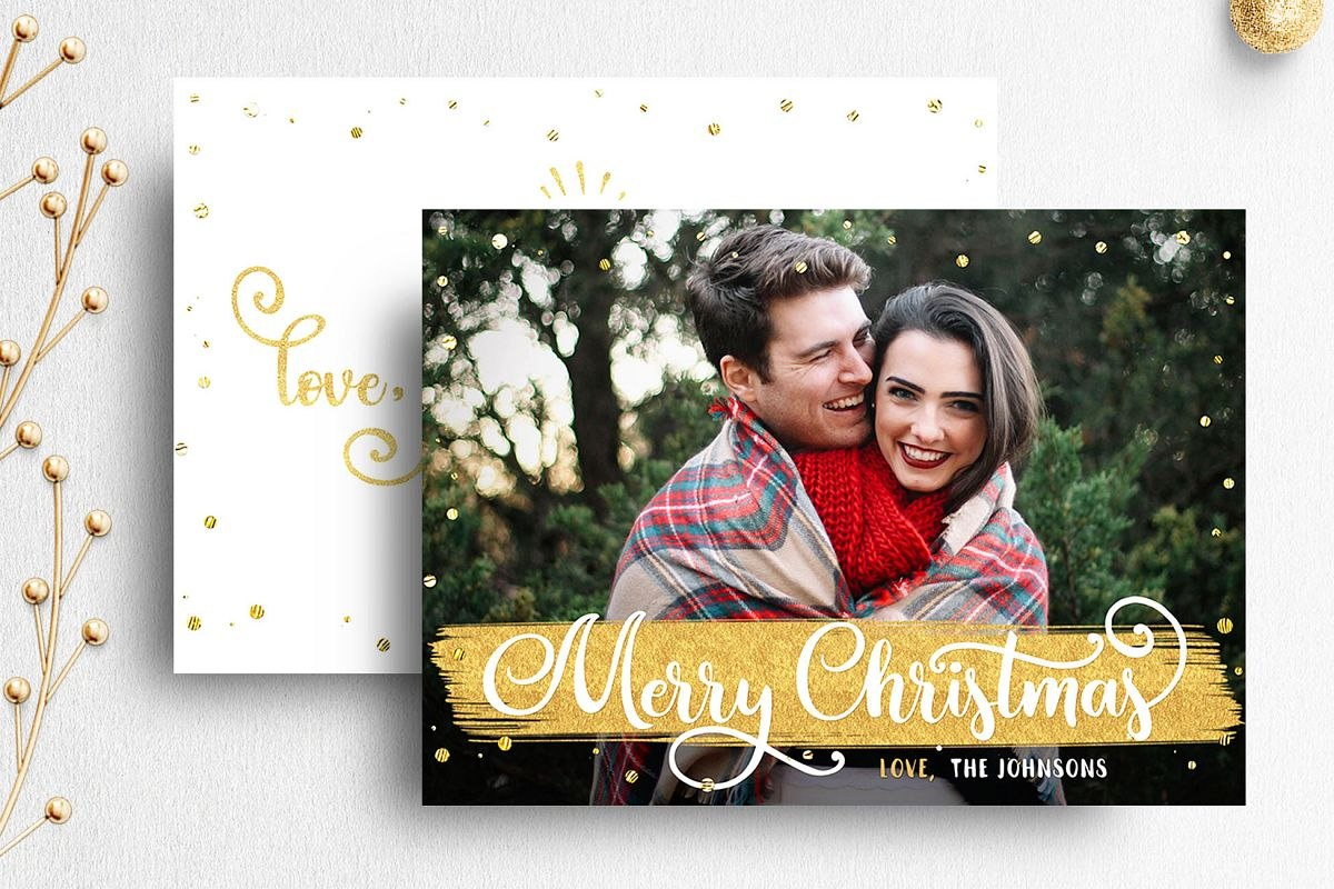Christmas Card Template For Photographer Throughout Holiday Card Templates For Photographers