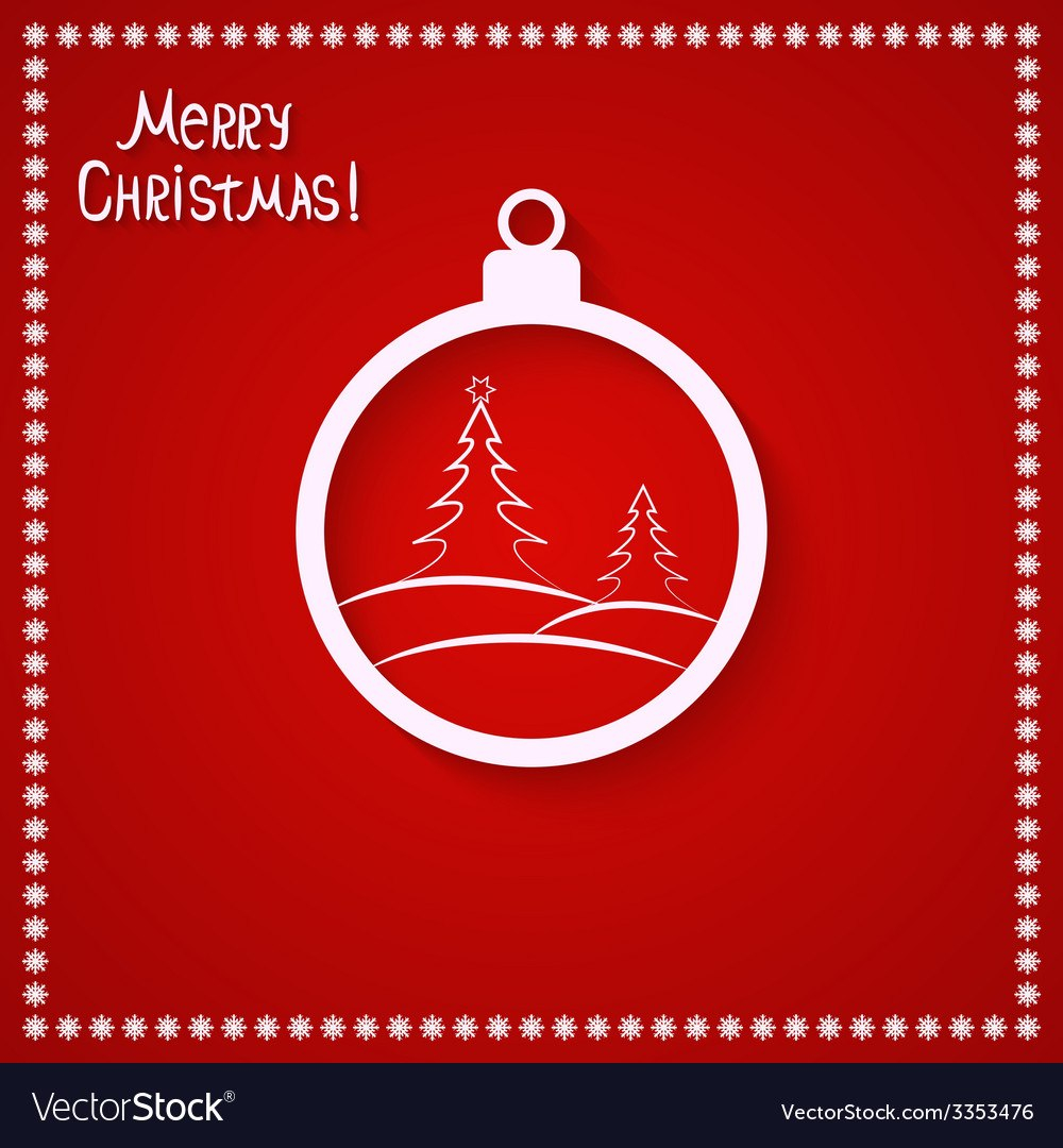 Christmas Card Template Royalty Free Vector Image Regarding Adobe Illustrator Christmas Card Template