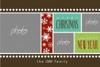 Christmas Card Templates For Photoshop  Template Business regarding Free Christmas Card Templates For Photoshop