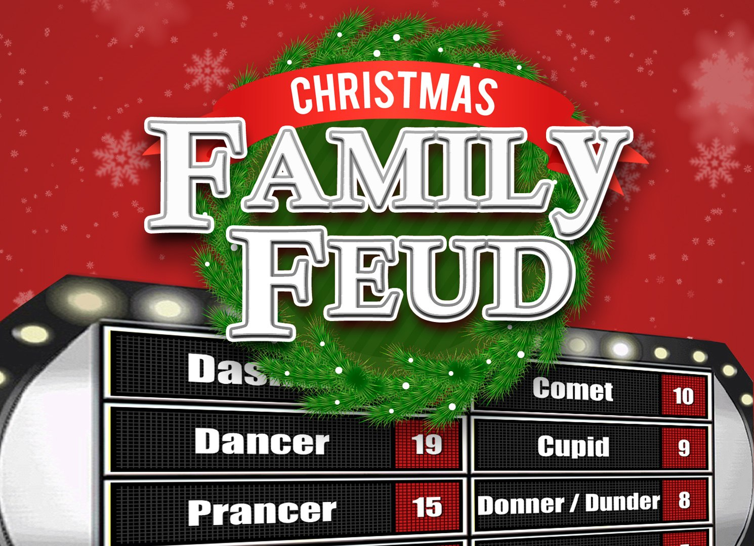 Christmas Family Feud Trivia Powerpoint Game  Mac And Pc Compatible Throughout Family Feud Powerpoint Template Free Download