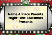 Christmas Family Feud Trivia Powerpoint Game  Mac And Pc Compatible with Family Feud Powerpoint Template With Sound