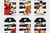 Christmas Labels Template Collection Royalty Free Cliparts Vectors with regard to Xmas Labels Templates Free