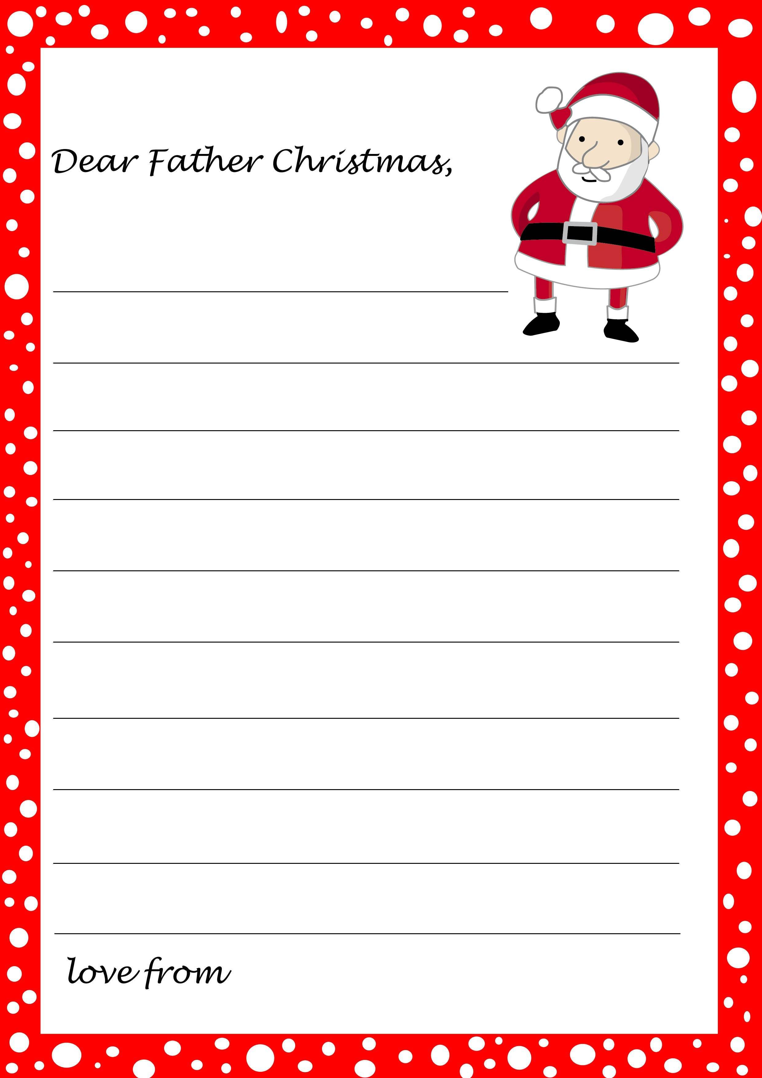 Christmas Letter From Santa Template Sample Within Blank Letter From Santa Template